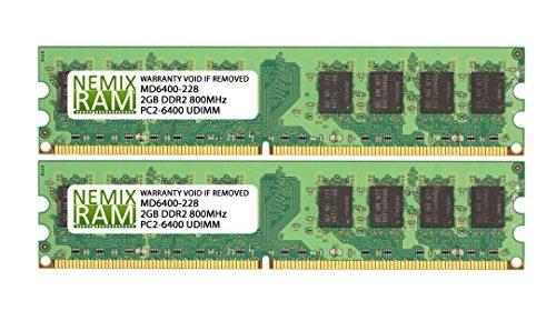 4GB 2 X 2GB DDR2 800MHz PC2 6400 240 Pin Memory RAM DIMM For Desktop PC Lifetime Replacement Warranty Free Same Business Day Shipping